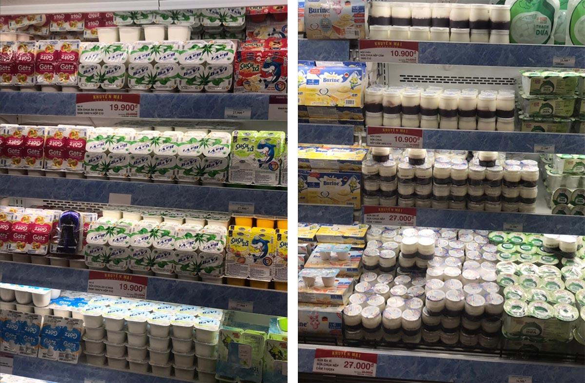 Một số sản phẩm tại siêu thị