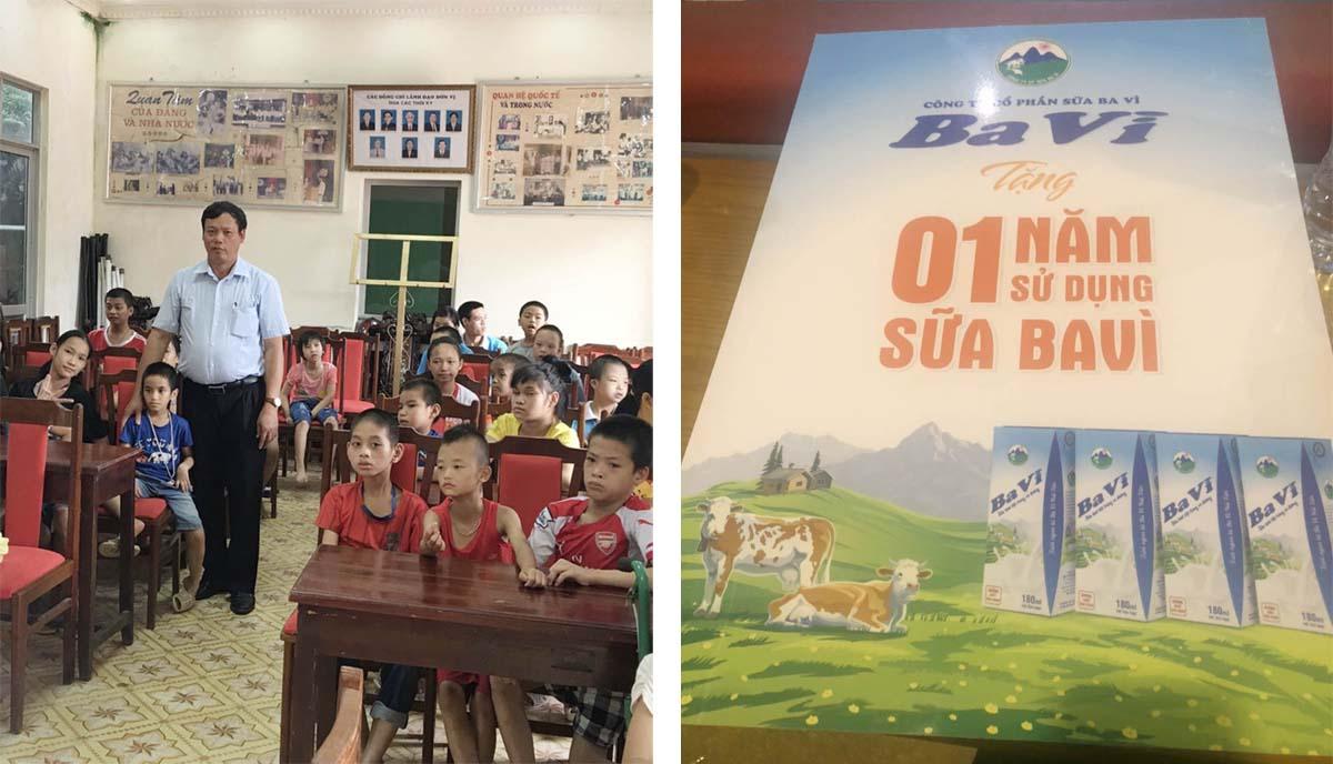 Tặng 1 năm dùng sữa Ba Vì miễn phí cho trẻ em